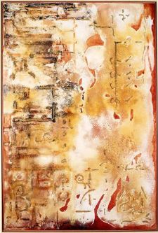 Ocher on almagra - Mixed / canvas 130x195 cm.